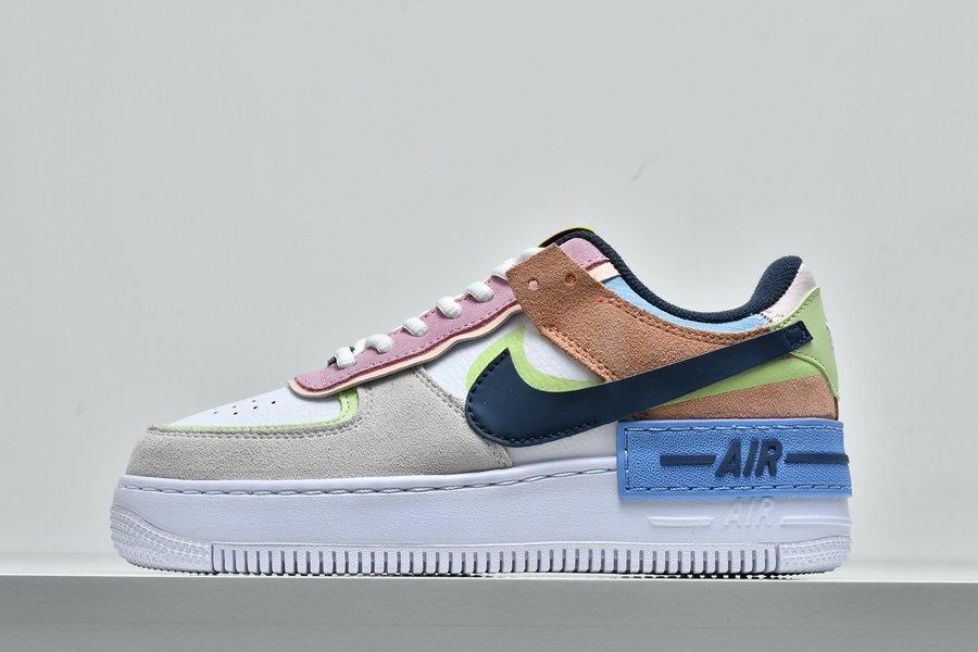 Nike Air Force 1 Shadow Photon Dust Royal Pulse Barely Volt