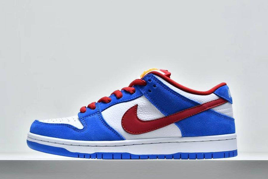 Nike Dunk SB Low Doraemon Light Photo Blue Speed Yellow-University Red