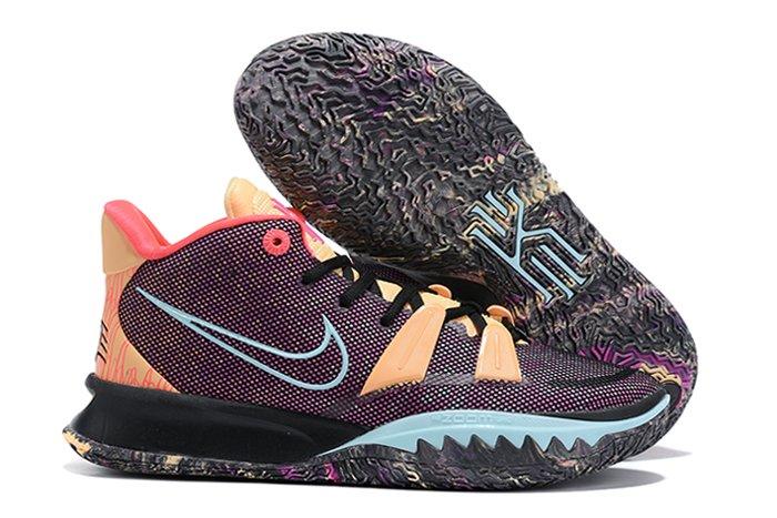 Nike Kyrie 7 Soundwave Dark Purple-Orange Multi-Color DC0589-002 Outlet