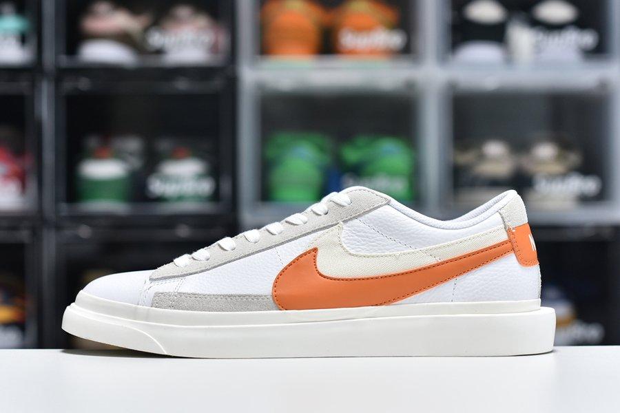 sacai x Nike Blazer Low White Magma Orange To Buy