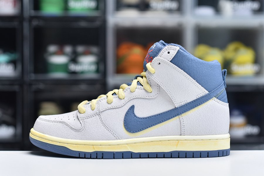 Atlas x Nike SB Dunk High Lost at Sea Sail Blue Yellow For Sale