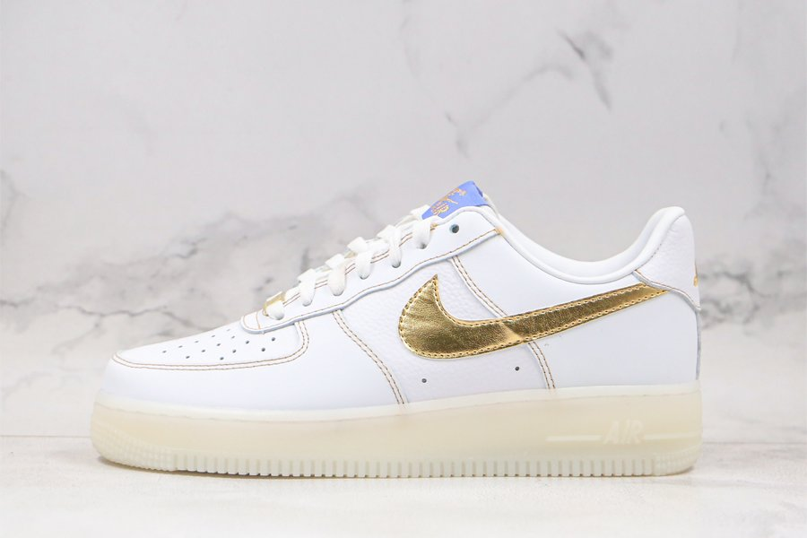 Buy Online Nike Air Force 1 Low White Gold With Translucent Sole