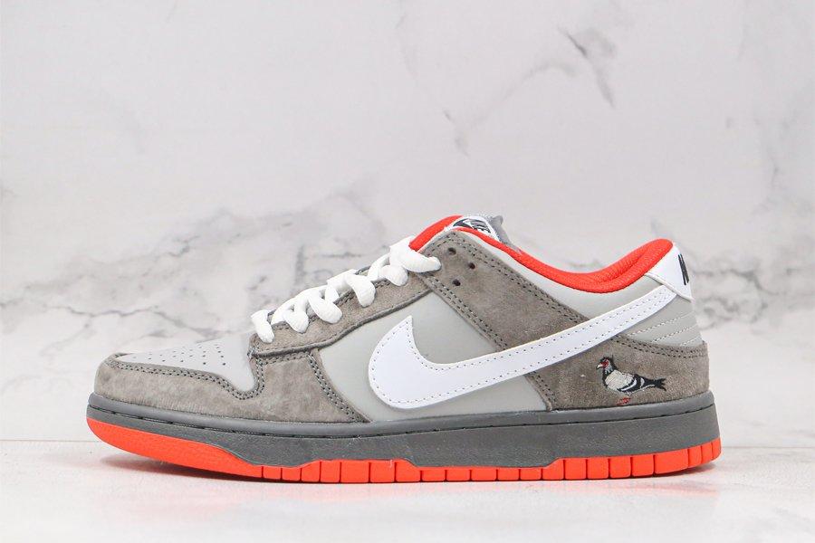Jeff Staple x Nike Dunk Low Pro SB Pigeon Grey Red