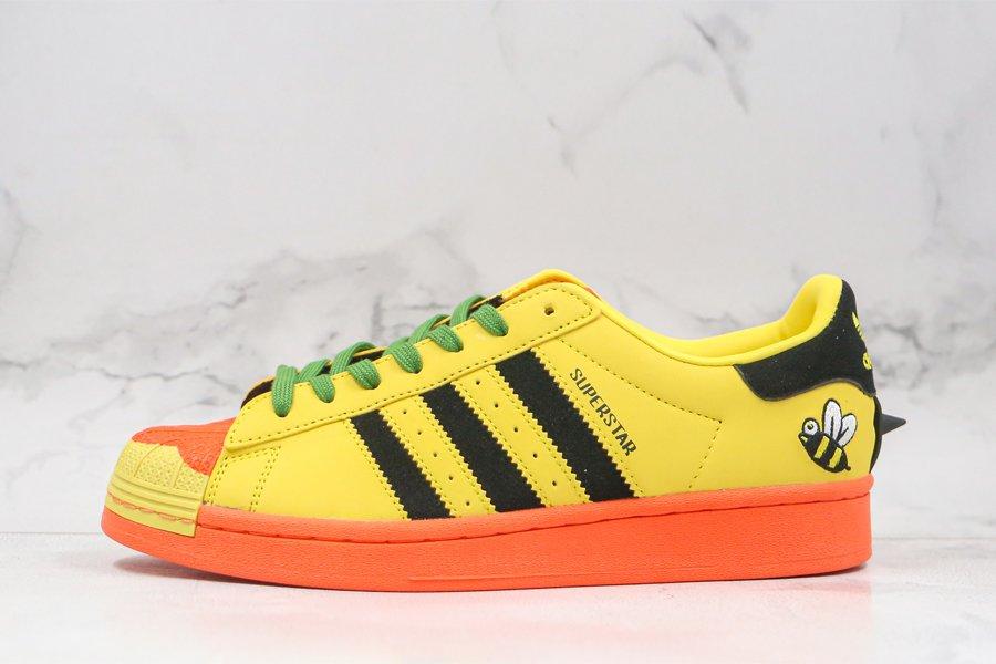 Melting Sadness x adidas Superstar Bee Yellow Orange FZ5254 On Sale