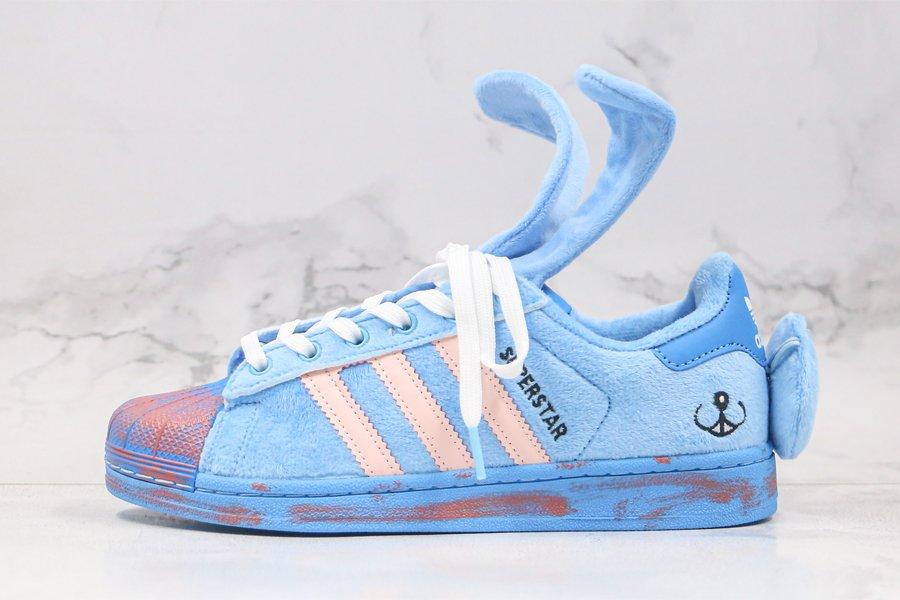 Melting Sadness x adidas Superstar Joy Blue Glow Pink-Craft Blue FZ5253 Sale