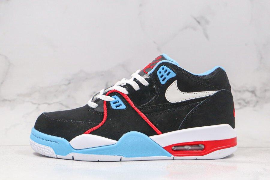 Nike Air Flight 89 Chicago Flag Black White Blue Red On Sale