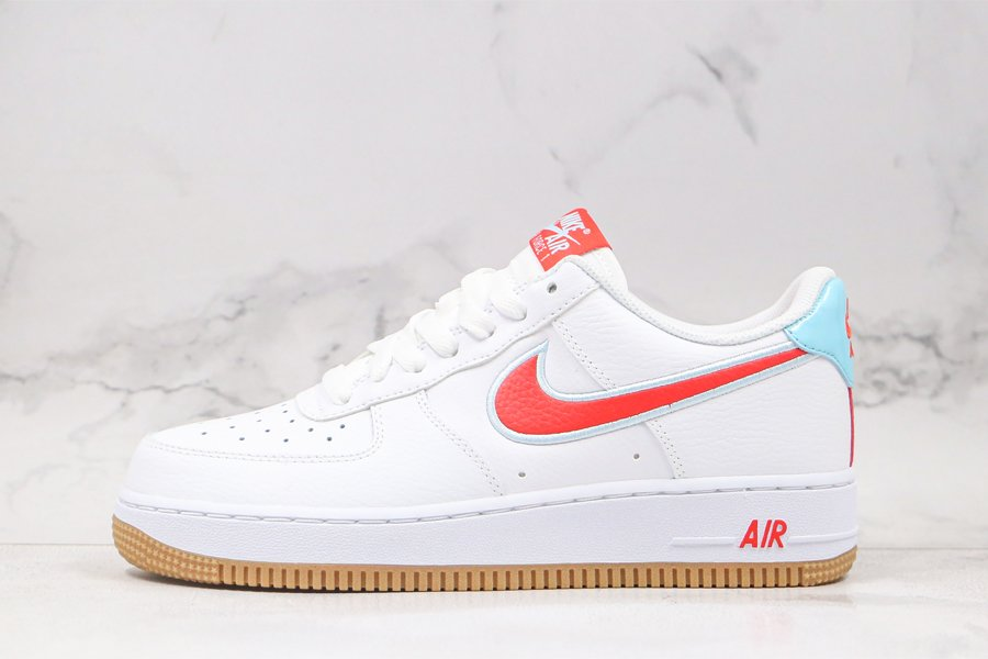 Nike Air Force 1 Low White Chile Red-Glacier Ice DA4660-101 For Sale