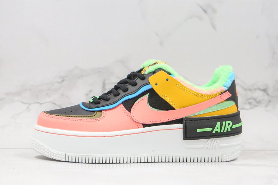 Nike Air Force 1 Shadow SE Solar Flare Atomic Pink-Baltic Blue Womens