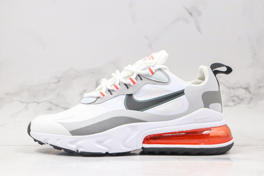 Nike Air Max 270 React White Cool Grey-Flash Crimson To Buy