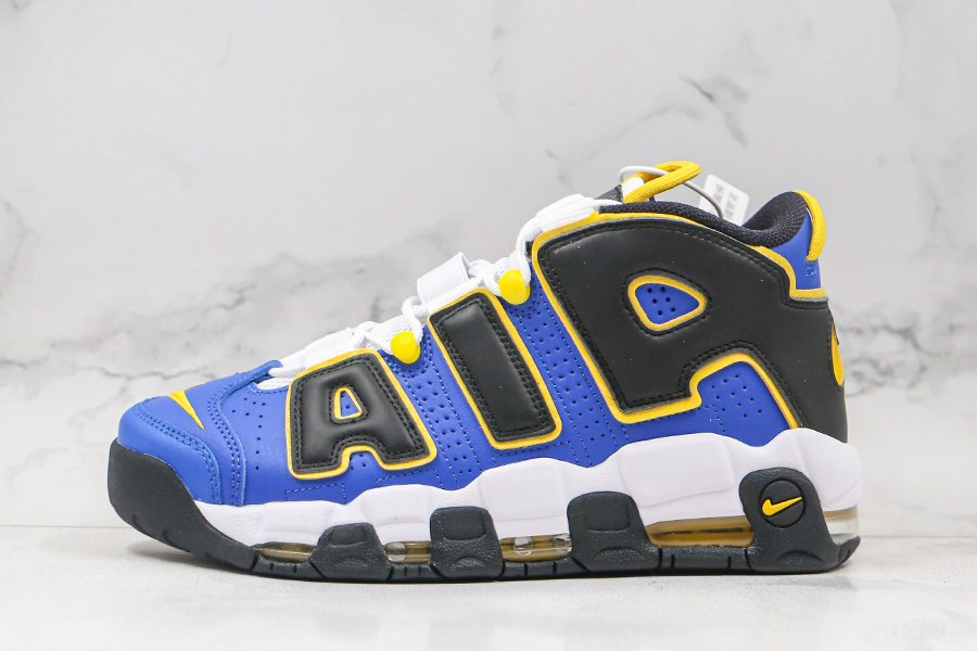 Nike Air More Uptempo Peace Love Basketball Game Royal Speed Yellow-Black