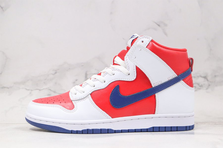 Nike Dunk High LA Clippers White Rapid-Varsity Red-Blue