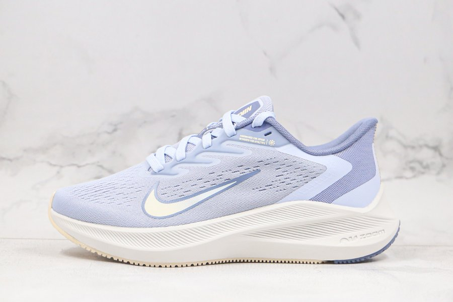 Nike Zoom Winflo 7 Running Shoes White Light Blue Sale