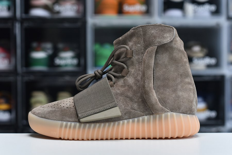 adidas Yeezy Boost 750 Chocolate Brown Suede BY2456 On Sale