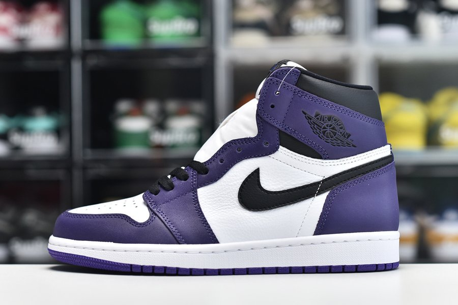 2020 Air Jordan 1 High OG White Court Purple 555088-500 For Sale