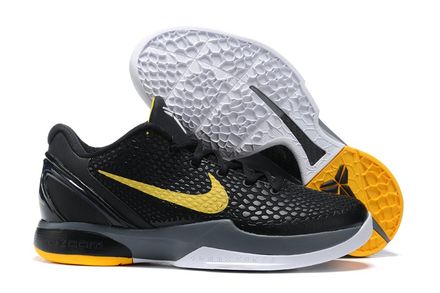 2021 Nike Kobe 6 Protro Del Sol Black Yellow CW2190-001 For Sale