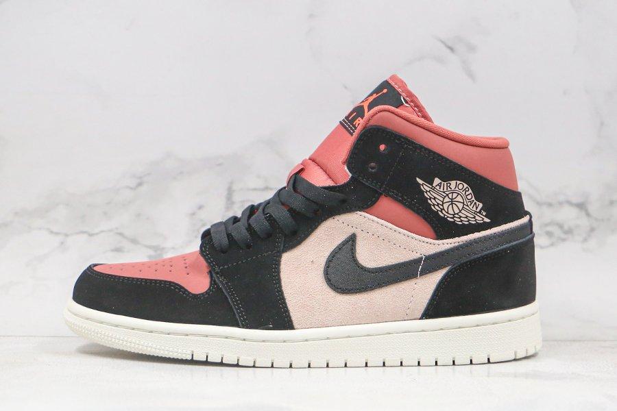 Air Jordan 1 Mid Burgundy Dusty Pink To Buy