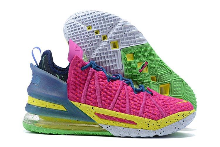 Nike LeBron 18 Los Angeles By Night Pink Prime