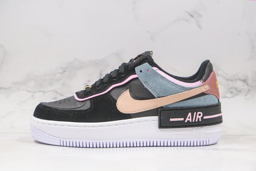 Nike WMNS Air Force 1 Shadow Black Light Arctic Pink Claystone Red