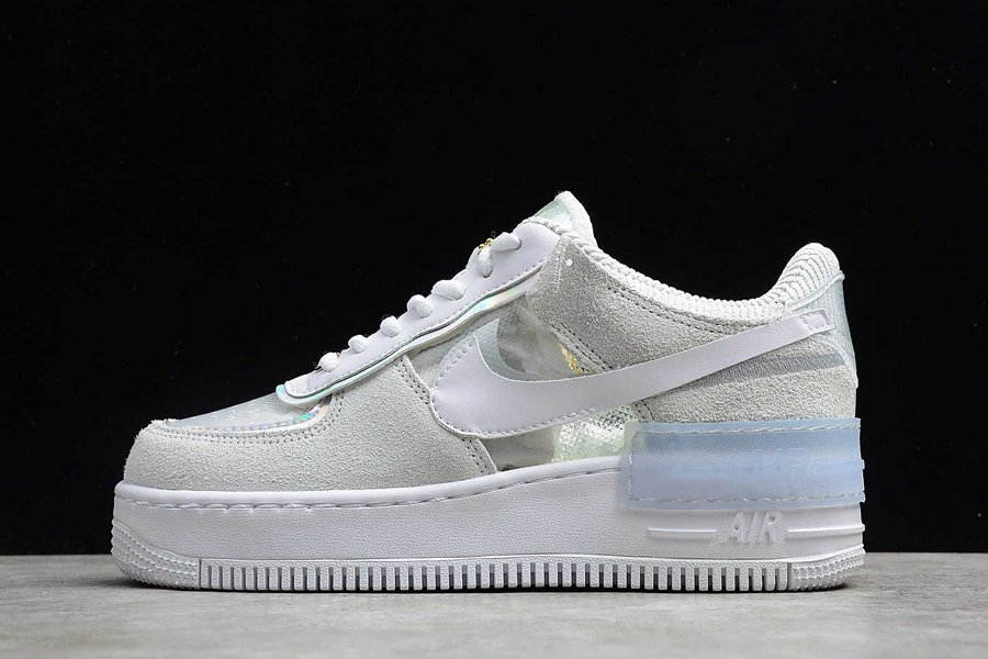 Nike WMNS Air Force 1 Shadow Iridescent Pure Platinum For Sale
