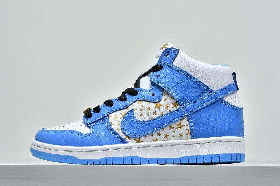 Supreme x Nike Dunk High Pro SB Blue 307385-141 To Buy