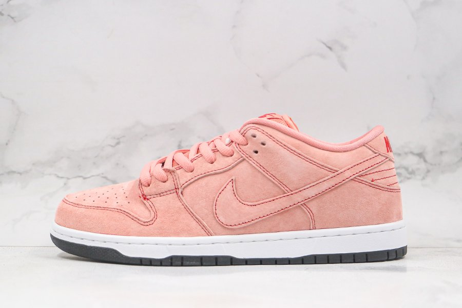 2021 Nike SB Dunk Low Pink Pig Atomic Pink University Red-White