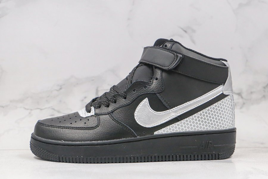 3M x Nike Air Force 1 High Leather Black Silver CU4159-001 To Buy