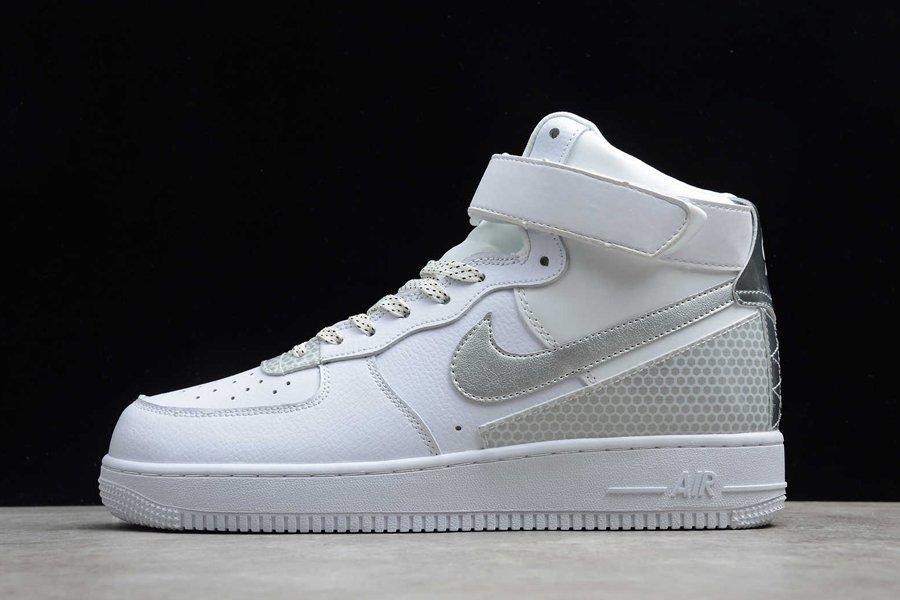3M x Nike Air Force 1 High White Metallic Silver CU4159-100 Outlet