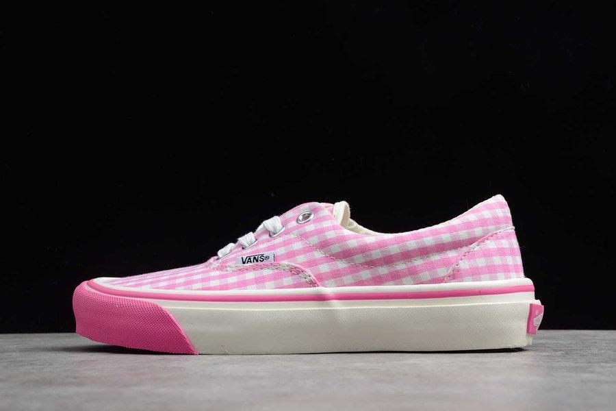 CDG Girl Vans Checks In Bubblegum Pink Gingham