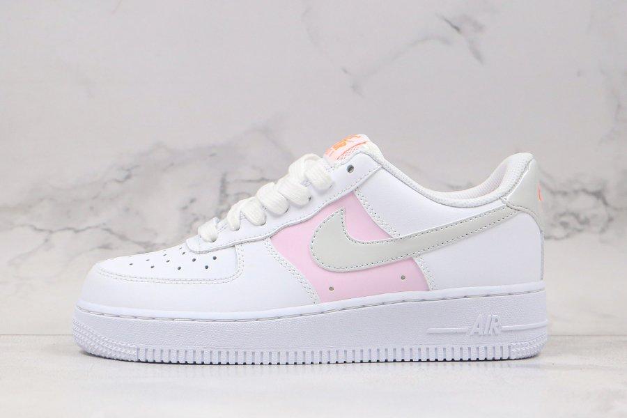 Ladies Nike Air Force 1 07 Premium White Pink Foam To Buy