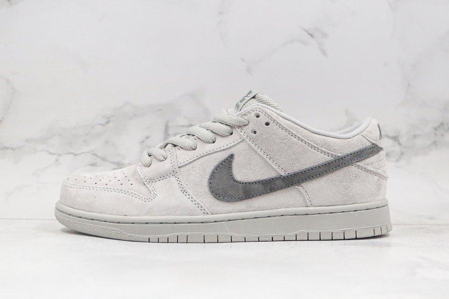 Men's Nike Dunk SB Low Grey Black Sneakers Cheap Sale