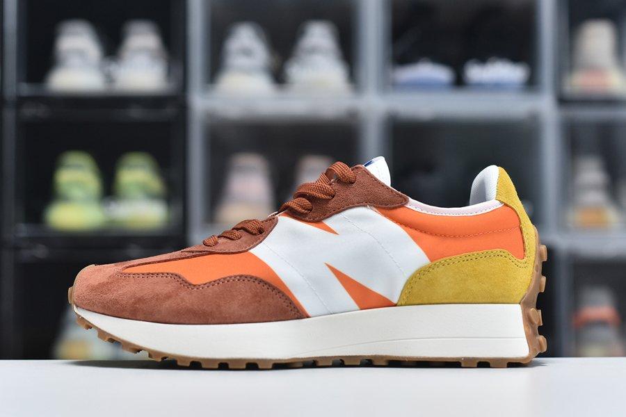 New Balance 327 Orange White Retro Style Shoes For Sale