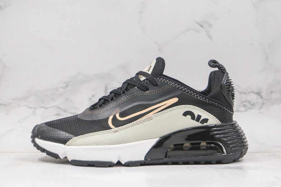 Nike Air Max 2090 Black Particle Grey-Metallic Gold In Mens Size