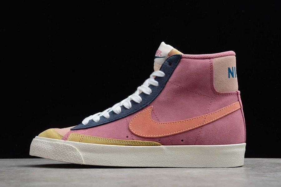 Nike Blazer Mid 77 Vintage Suede Desert Berry Red For Sale