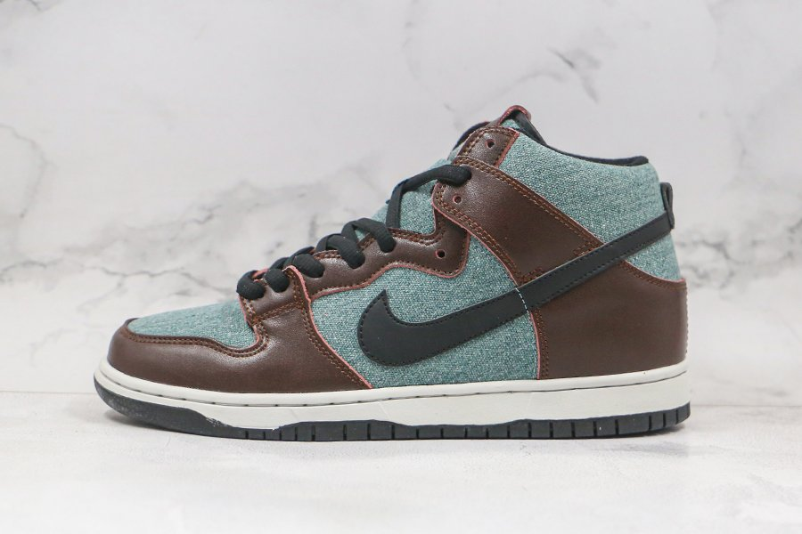 Nike SB Dunk High Pro Baroque Brown Black-Brun Baroque-Noir