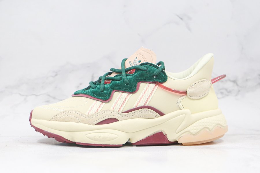 adidas Ozweego Sand Ash Pearl-Collegiate Green For Sale