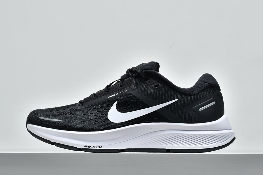 Buy New Nike Air Zoom Structure 23 Black White Running Shoes