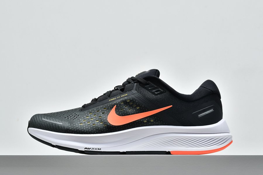 Mens Nike Air Zoom Structure 23 Anthracite Bright Mango-Black