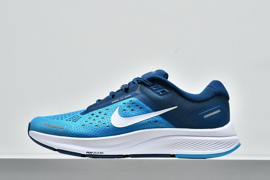 Mens Nike Air Zoom Structure 23 Laser Blue White-Valerian Blue