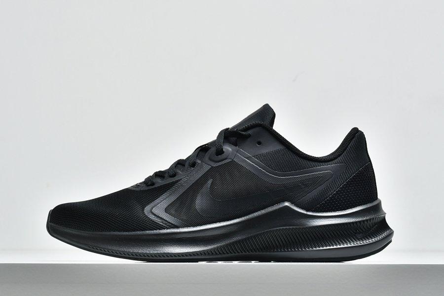 Mens Nike Downshifter 10 Black Iron Grey Black Running Shoes