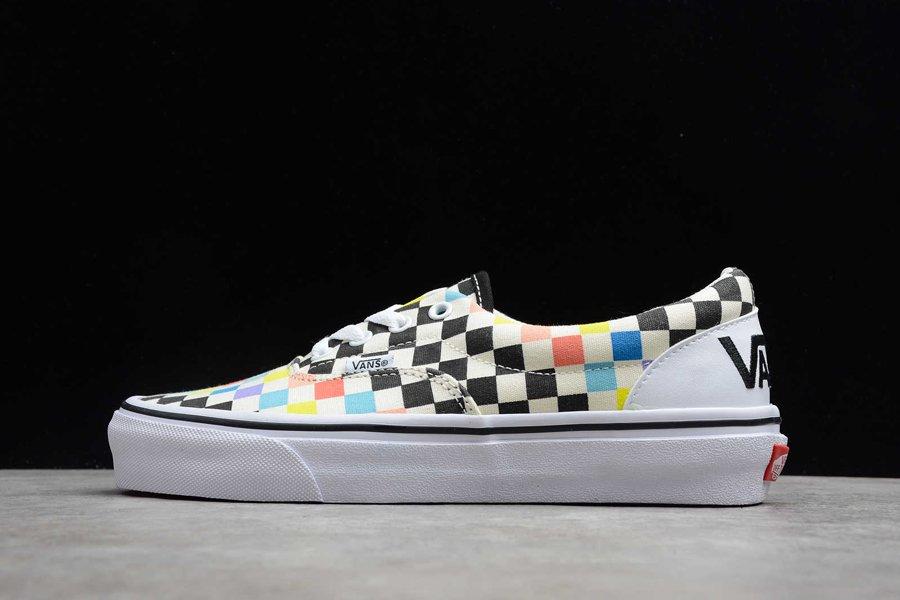 Vans X MoMA ComfyCush Era Skate Sneakers Low Top Shoes White-Multi