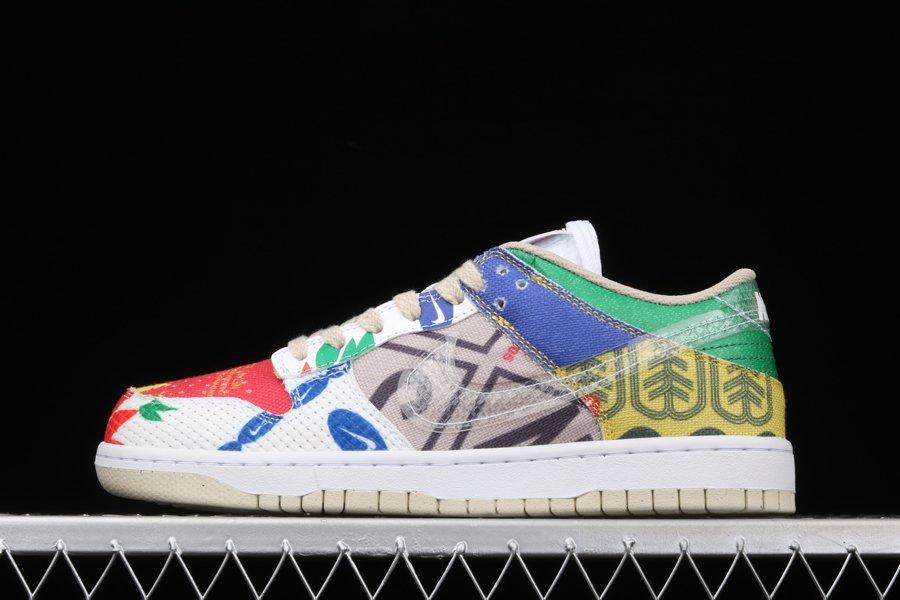 2021 Nike Dunk Low City Market Multi-Color DA6125-900 To Buy