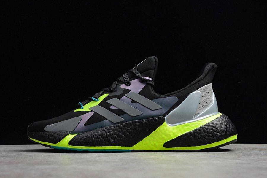 Adidas X9000L4 Boost Running Shoes Black Grey Volt