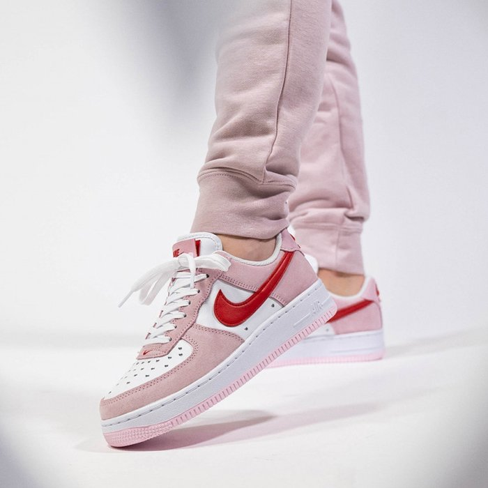 Air Force 1 07 QS Valentines Day Love Letter On Feet