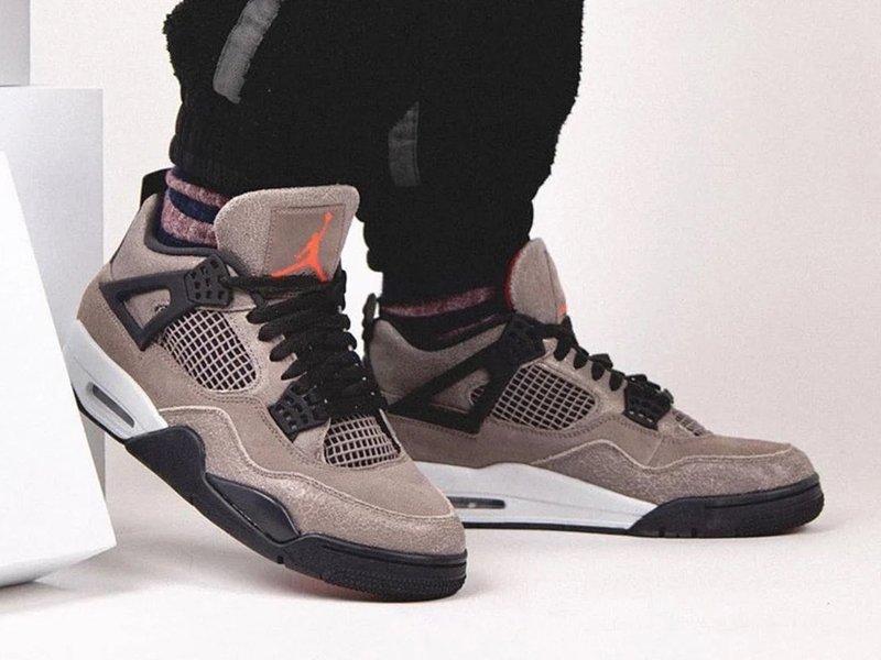 Air Jordan 4 Taupe Haze On Feet