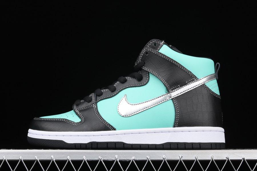Diamond Supply Co. x Nike SB Dunk High Aqua Chrome-Black