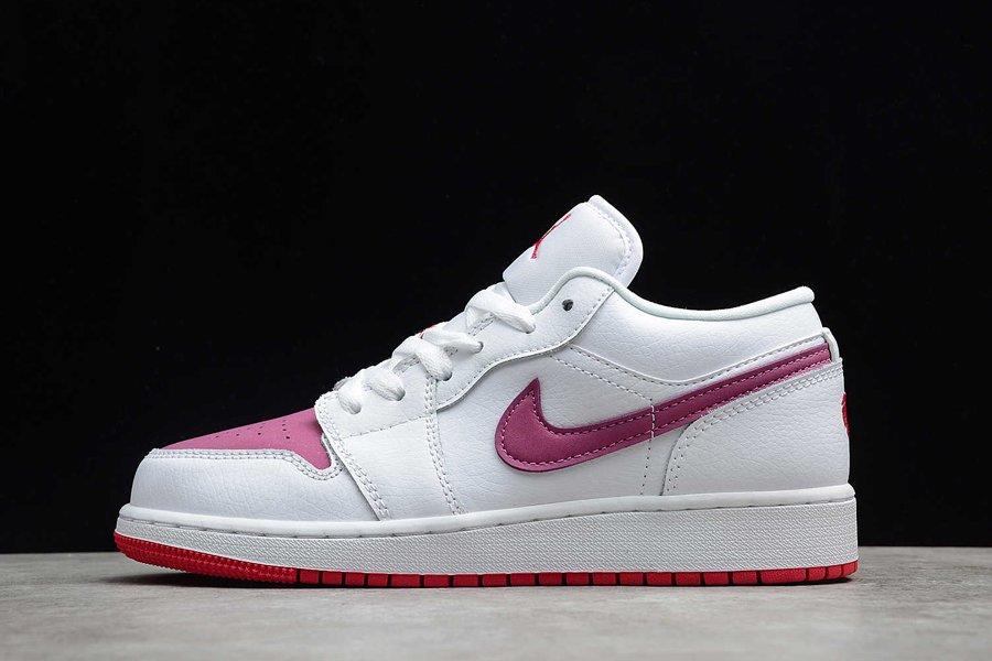 Jordan 1 Low White True Berry 554723-161 On Sale