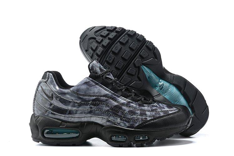 Mens Nike Air Max 95 Black Aurora Green-Smoke Grey DA7735-001 To Buy