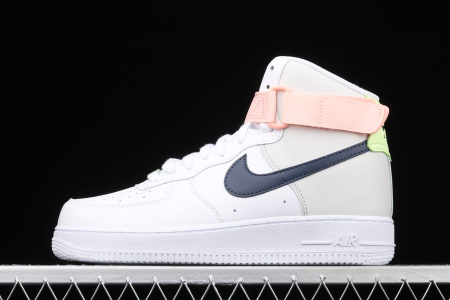 Nike Air Force 1 High White Navy Pink