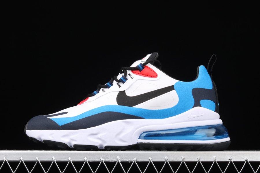 Nike Air Max 270 React White Photo Blue-University Red To Buy