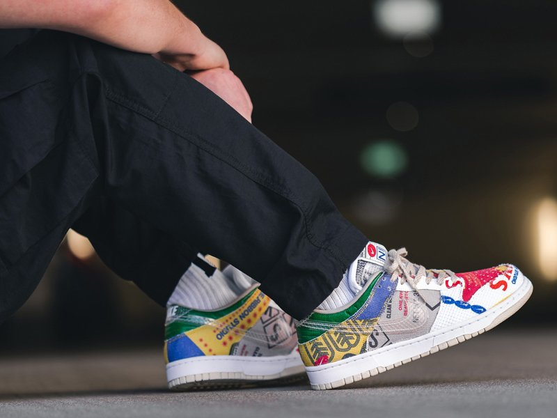 Nike Dunk Low City Market Multi-Color On Feet
